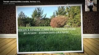 Terrain constructible à vendre, Verines (17),